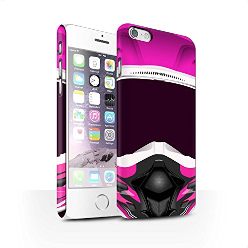 STUFF4 Matte Snap-On Hülle / Case für Apple iPhone 7 Plus / Superbike/Rosa Muster / Motorradhelm Kollektion Motocross/Rosa