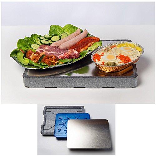Kühlplatte für BBQ Servierplatte inklusive Kühlakku