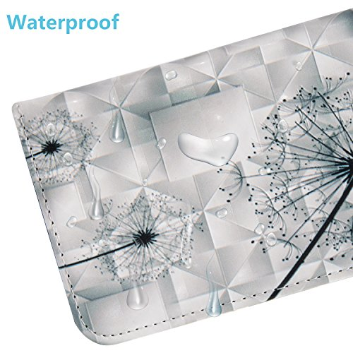 Cozy Hut Hülle Case Cover Für iphone 6 6S Plus , 3D HD Exklusive Ultra Thin Leicht TPU Silikon Weiche + Anti-Fingerprint kratzfeste + Drucken Muster Printing Pattern 3D Landschaft Schwarze Federn + Pr Löwenzahn
