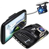ANSTAR 4 Inch Full HD Car Dvr Dual Lens Car Camera dash cam Reverse Image Loop Recording Parking Monitor HDR Night Vision 170