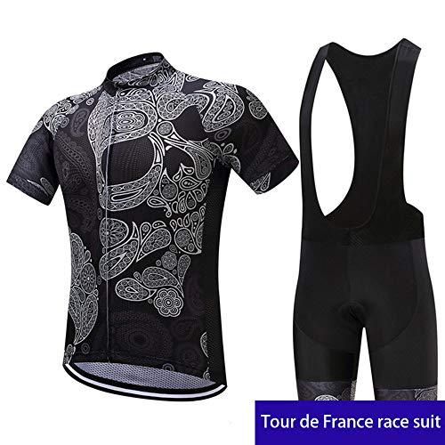 WDDP Abbigliamento Ciclismo Uomo Asciugatura Veloce Maglia Manica +Pantaloncini Abbigliamento da Ciclismo Abbigliamento Sportivo da Equitazione