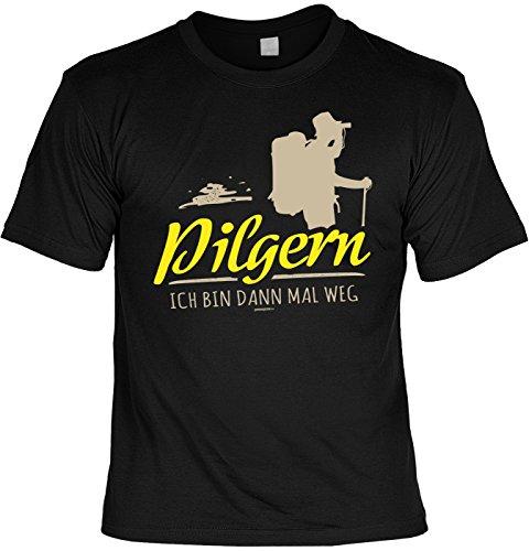 Pilger Sprüche T-Shirt Pilgerweg Wandern : Pilgern Ich bin dann mal weg --Tshirt Wandern Pilgerurlaub Urlaub Pilgern Gr: S