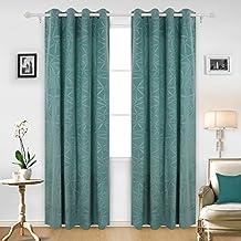 deconovo gardinen mit sen vorhnge wohnzimmer vorhang deko 240x140 cm trkis - Wohnzimmer Dekoration Turkis
