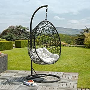 la havane egg fauteuil suspendu en rotin jardin. Black Bedroom Furniture Sets. Home Design Ideas