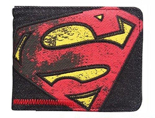 Portefeuille DC Comics Superman Noir Rouge