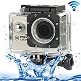 ALLSHOPSTOCK (#33) H16 1080P Portable WiFi Waterproof Sport Camera, 2.0 inch Screen, Generalplus 4248, 170 A+ Degrees Wide Angle Lens, Support TF Card(Silver)