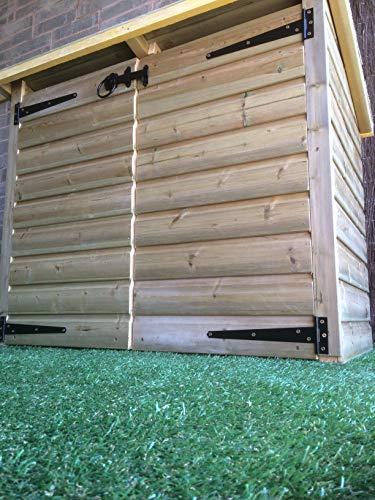 Outdoor Wooden Garden Furniture Ltd HEAVY DUTY RECYCLE BIN STORAGE/LOG STORE WITH SHELF AND DOORS