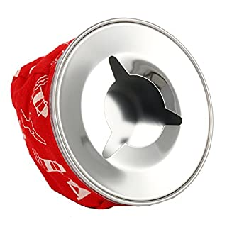 Amarine-made Stainless Windproof Bean Bag Ashtray, Blue or Red (Red)