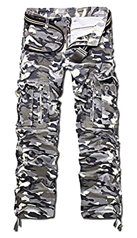 Pantalon Treillis Vintage - Panegy Adultes Combat Pantalon pour Homme/Garçon Treillis