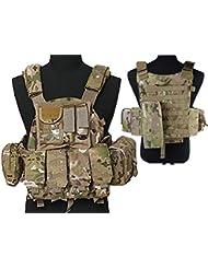 Tactical multi Attack Molle combate chaleco, con bolsillo para cargador) para Airsoft y Paintball militar CP