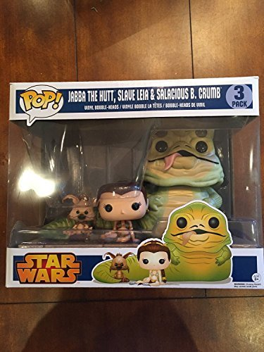 Star Wars Return of the Jedi Exclusive Jabba, Slave Leia & Salacious B. Crumb... by POP
