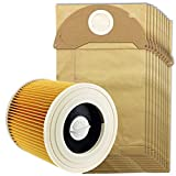 Spares2go Cartridge Filter & Dust Bags for Karcher WD2200 WD2240 Vacuum Cleaners (Filter + 10 Bags)