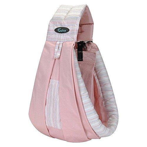 Vrbabies Cotton Baby Slings and Wraps Carrier for Newborns and Breastfeeding (Pink stripes) by Vrbabies