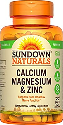 Calcium Magnesium and Zinc, 100 Caplets by Rexall Sundown Naturals