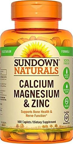 Rexall Sundown Naturals, Calcium Magnesium und Zink, 100 Kapseln