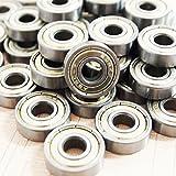 QUIOSS Kit Of 100 Pcs Steel Ball Bearing 608ZZ For Inline Skate Roller Blade Roller Hockey Inline Blade 8x22x7mm