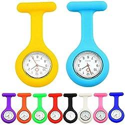 PromiseU 1pcs Silicone Nurse Fob Watch Doctor Brooch Tunic Pocket Watch