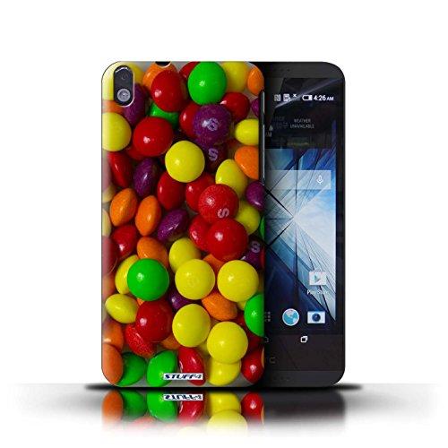 Kobalt® Imprimé Etui / Coque pour HTC Desire 816 / Jelly Faces conception / Série Bonbons Skittles