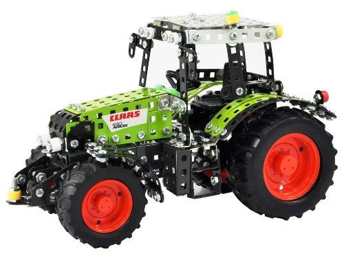 Tronico 10062 - Metallbaukasten Traktor Claas Arion 430, Junior Serie, Maßstab 1:24, 648-teilig, grün