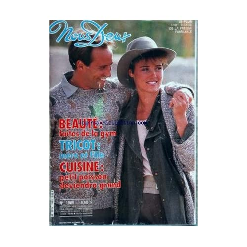 NOUS DEUX [No 1965] du 27/02/1985 - beaute - faites de la gym tricot - mere et fille cuisine - petit poisson deviendra grand yves mourousi par denisot