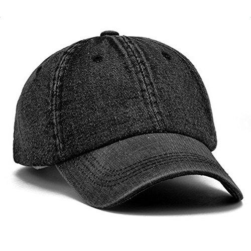 Imagen de leisial ocio  de béisbol de vaquero color sólido ajustable del sombrero al aire libre hats hip hop verano primavera para hombre mujer alternativa