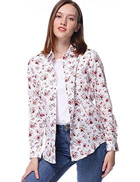 Dioufond Camisas Floral Mujer Manga Larga Blusas Casual para Mujer