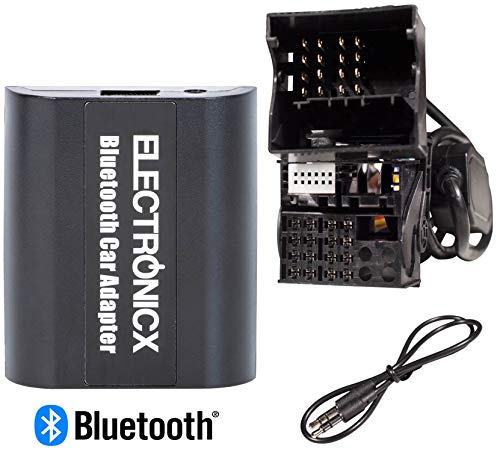 Bluetooth Freisprechanlage, Bluetooth Musik Streaming Adapter für Originalradios inkl. AUX und USB-Ladebuchse BTA-BM2
