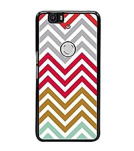 Fiobs Designer Back Case Cover for Huawei Nexus 6P :: Huawei Google Nexus 6P (jaipur rajasthan african america cross pattern)