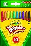Crayola Mini Twistables Buntstifte, 10 klassische Farben, ungiftig, Kunstwerkzeuge für Kinder und Kleinkinder ab 3 Jahren, ideal für Klassenzimmer oder Vorschulen, selbstschärfend, kein Verdrehen