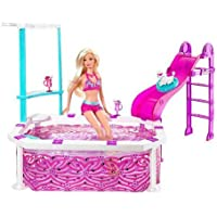 Barbie Glam Pool & Swimsuit Doll Giftset T2333