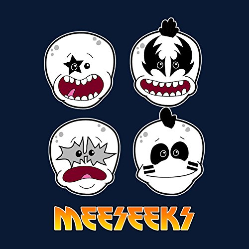 Meeseeks Kiss Faces Rick And Morty Women's T-Shirt Navy blue