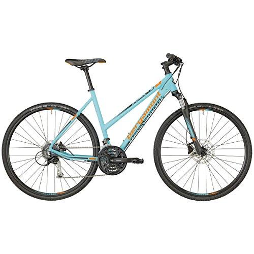 Bergamont Helix 5.0 Damen Cross Trekking Fahrrad blau/orange/grau 2018: Größe: 46cm (160-170cm)