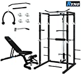 RynoTM Power Rack Squat Cage Weight Bench Combo Package Machine Pull Up Multi Gym