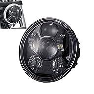 """Specifiche:  Tipo: fari  LED di potenza: 45W/alto fascio, 30W/Low Beam  Lumen: 4000LM/alto fascio, 2800LM/Low Bea  LED: Circuiti integrati di Osram LED  Dimensioni: 5.75 """"  Colore: nero  Zoccolo della lampadina: H4  Corpo: Alluminio pressofuso  Impe..."""
