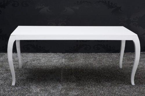 Barock Esstisch Hochglanz Weiß 200cm – Esszimmer Tisch – 10558 – Barock Möbel Modern