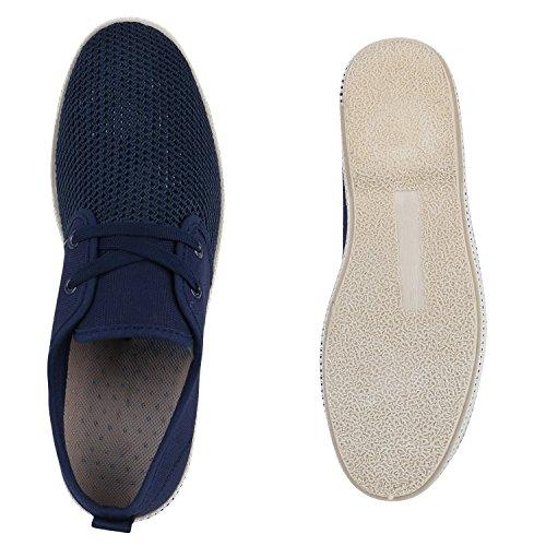 Herren Halbschuhe | Business Schuhe Veloursleder-Optik |Klassische Schnürer | Denim Lochung Geflochten Blau Bexhill