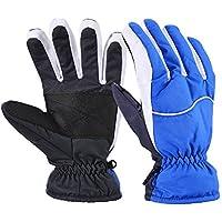 WM Antivento impermeabile caldi guanti all'aperto sci, guanti freddo palmo caldo Gato antiscivolo (Capannone All'aperto)