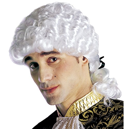 Widamann a6026 - parrucca da nobile veneziano, bianca