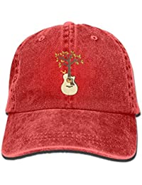 Tree Acoustic Guitars Denim Hat Adjustable Male Mini Baseball Cap b9e6776dee36