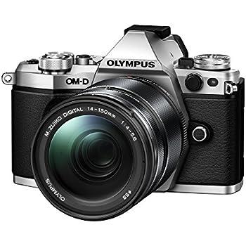 Olympus OM-D E-M5 Mark II Systemkamera (16 Megapixel, 7,6 cm (3 Zoll) TFT LCD-Display, Full HD, HDR, 5-Achsen Bildstabilisator) inkl. 14-150 mm II Objektiv silber