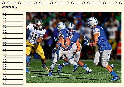 American Football - Taktik und Athletik (Tischkalender 2019 DIN A5 quer): Teamsport der Extra-Klasse (Geburtstagskalender, 14 Seiten ) (CALVENDO Sport)
