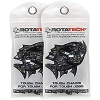 Rotatech - Cadena para motosierra (2 unidades, 50,8cm, 76 bares, aceite original de 1 litro), 2 Chains
