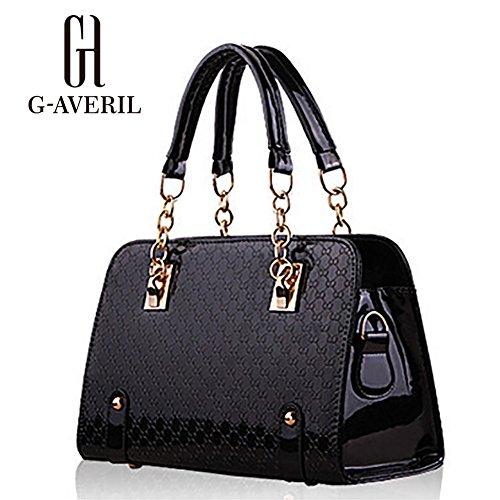 (G-AVERIL) Borsa a Mano Spalla Donna Elegante Pelle Ragazza Grande Borsetta  Borsa ee411e9c560
