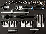 SW-Stahl Moduleinlage Steckschlüssel- satz 3/8 Zoll, Antrieb, Z2550-2