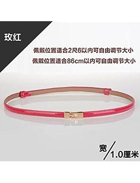 SILIU*El fino cinturón de cuero, correa de cuero barnizado silvestres fina decoración femenina vestidos de mujer...