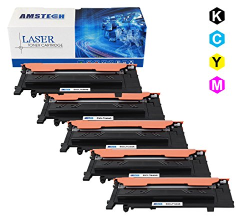 Preisvergleich Produktbild 5 Pack Amstech kompatibel toner CLT-K404S CLT-C404S CLT-M404S CLT-Y404S Tonerkartusche replacement fuer Samsung SL-C430 SL-C430W SL-C480 SL-C480W SL-C480FW SL-C480FN Schwarz-1500 Seiten, Cyan /Gelb /Magenta-1000 Seiten; 1 Set+ 1 Black