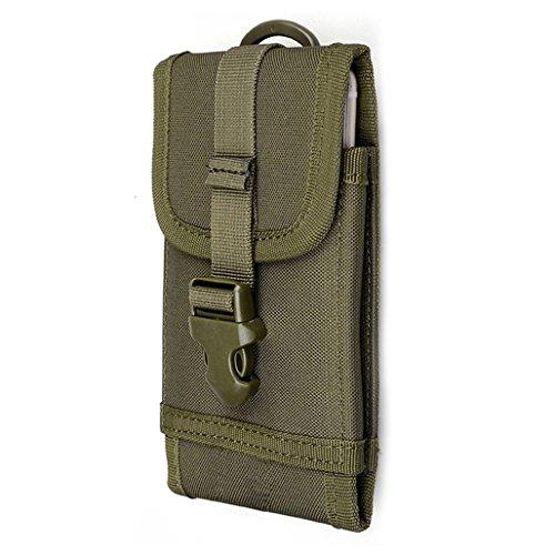 Marsupio tattico multiuso sport Utility mini Pack esterno della vita tasca, Black Army Green
