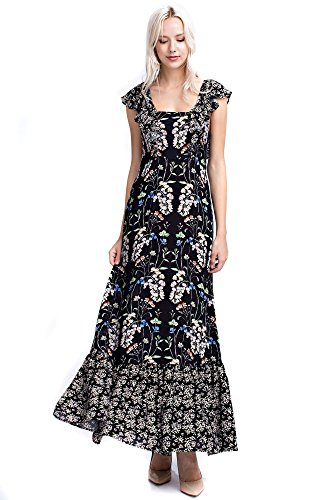 Solitaire Twin Print Floral Dress (Medium) -