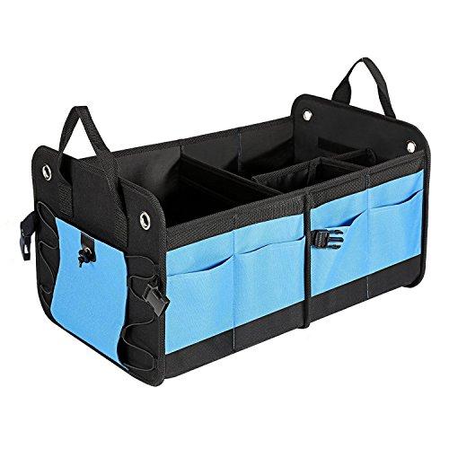 MaidMAX Kofferraumtasche, Auto Organizer Faltbox mit Klett Befestigung Stabile, Große KFZ Aufbewahrungstasche für Einkäufe, Spielzeug oder Werkzeuge Ordnungssystem für mehr Platz im Auto oder Haushalt