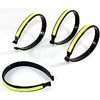 Hosenklammern mit Reflektor -K&B Vertrieb- Hosenklammer Hosenspangen Hosenspange Kunststoff 630 (4 Stück)
